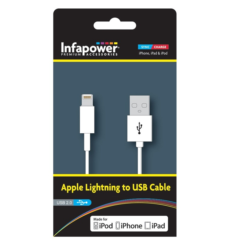 Compare prices for Infapower Apple Lightning USB Cable - 1M Officially Licenced