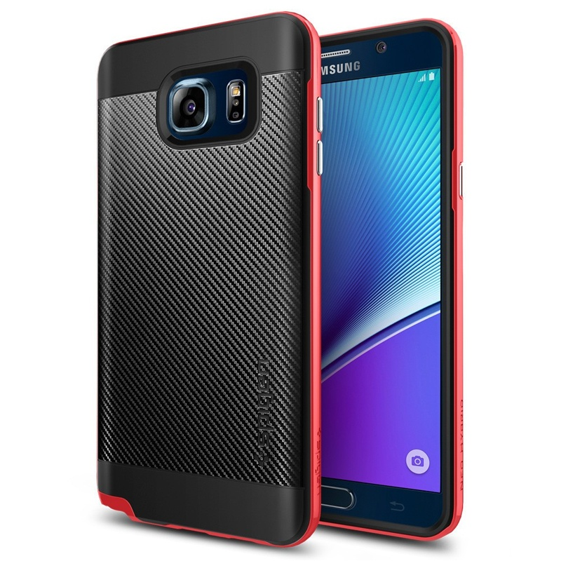 Compare prices for Spigen Samsung Galaxy Note 5 Case Neo Hybrid Carbon - Dante Red