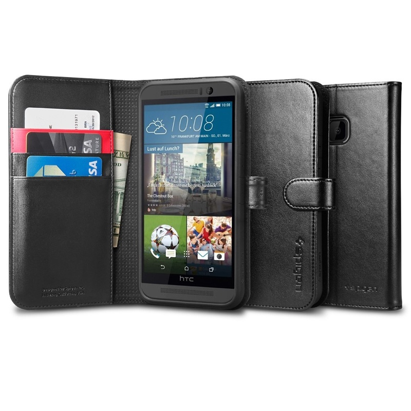 Compare prices for Spigen HTC One M9 Case Wallet S - Black