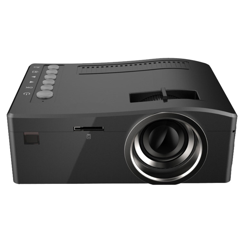 LED Full HD 1080p Mini Projector UC18 USB TF AV HDMI IR - Black