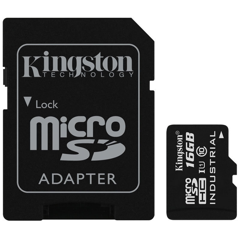 Compare prices for Kingston 16GB Industrial Micro SD Card SDHC + Adapter - 90MB/s