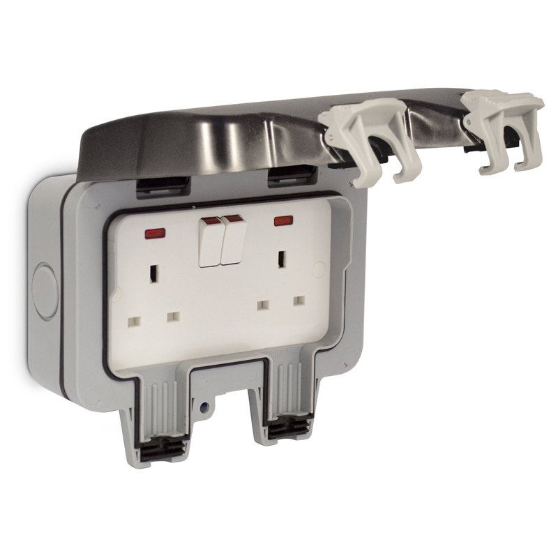 Compare prices for Masterplug 13A 2-Gang Storm Weatherproof Outdoor Switched Socket Double Pole BGWP22