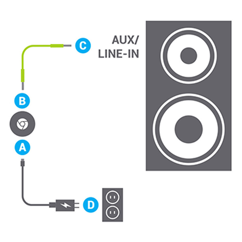 Plug in Chromecast Audio
